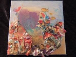Abstract plastic shells