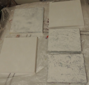 Art from club duvet - canvasses ready for some texture