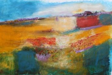 Patchwork Landscape with blue 196K
