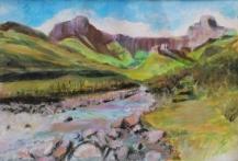 'Mont-aux-sources - Drakensberg' Soft pastels, watersoluble oil pastels