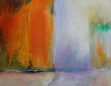 Going for a walk_Acrylic_Sold