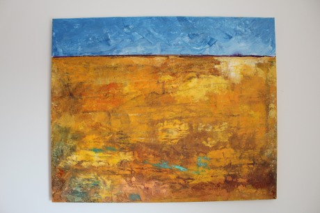 Gold landscape - Acrylics